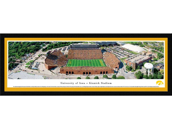 NCAA Iowa, University of by James Blakeway Framed Photographic Print by Blakeway Worldwide Panoramas, Inc