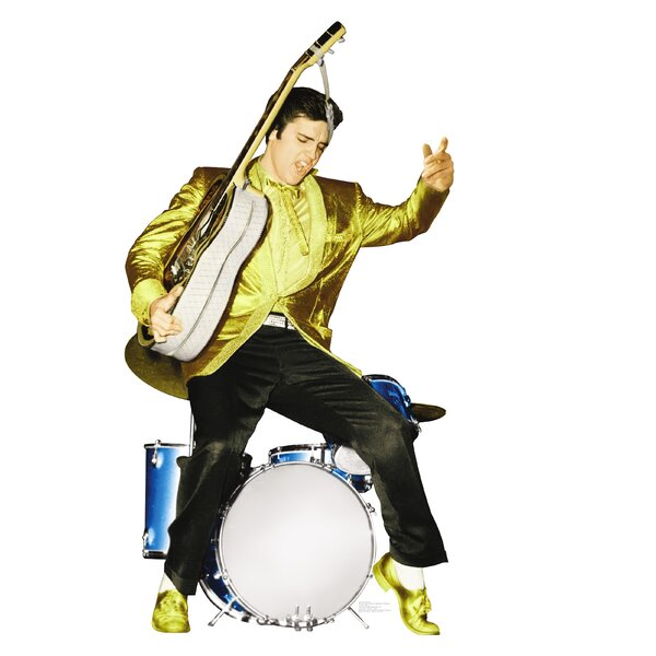 Elvis Presley in Drums Life-Size Cardboard Stand-Up by Advanced Graphics