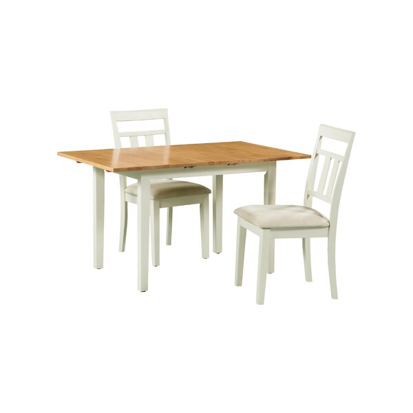 Shipe 3 Piece Extendable Solid Wood Dining Set by August Grove August Grove