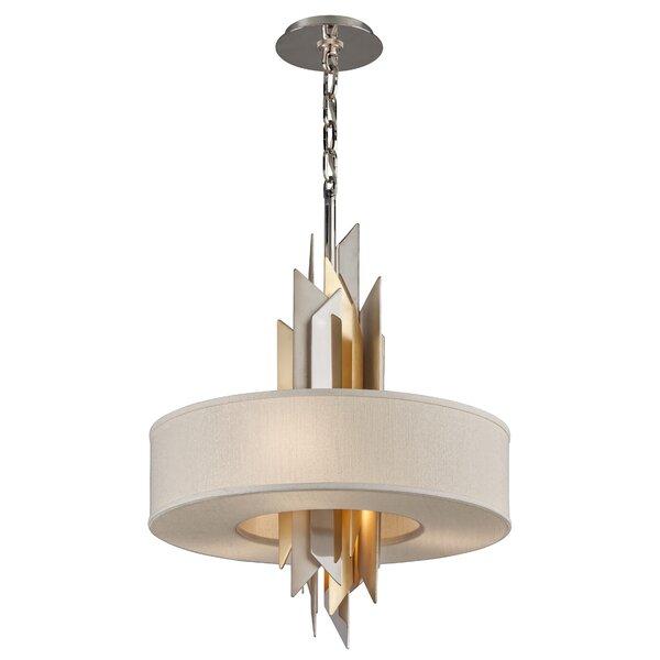 Modernist 4-Light Unique / Statement Drum Chandelier by Corbett Lighting Corbett Lighting
