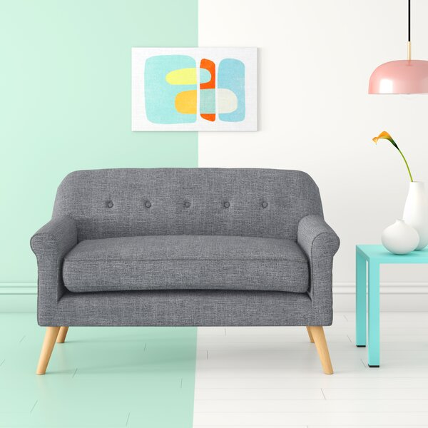 Best #1 Anchill Mid Century Modern Loveseat By Hashtag Home New Design