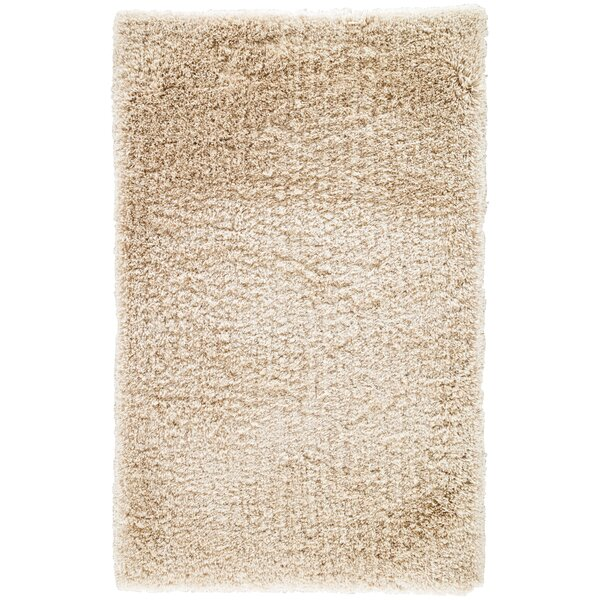 Orion Shag And Flokati Solid Cream Area Rug by Wrought Studio