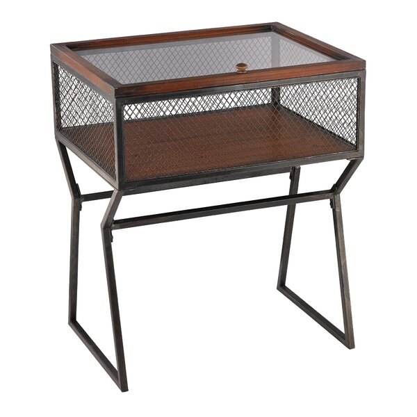 Roosa Curio Corner Cabinet by World Menagerie