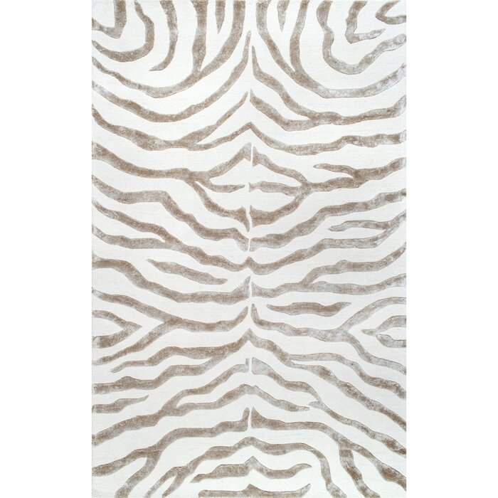 Dodgson Hand Tufted Wool Gray Area Rug