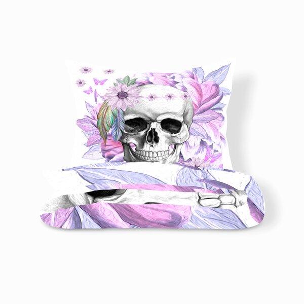 Lender Floral Skull Duvet Cover Set