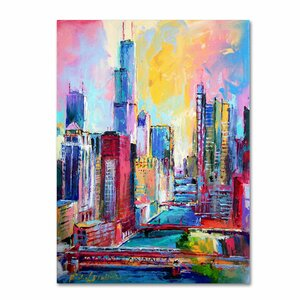 'Chicago 3' by Richard Wallich Painting Print on Wrapped Canvas by Trademark Fine Art