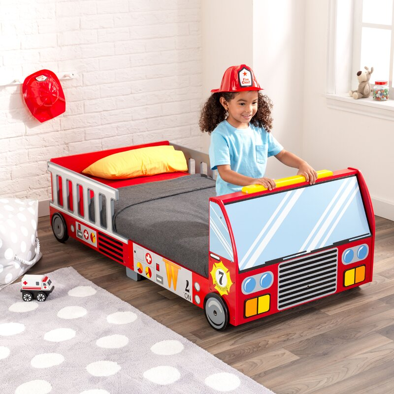 Kidkraft Firefighter Toddler Car Bed Amp Reviews Wayfair