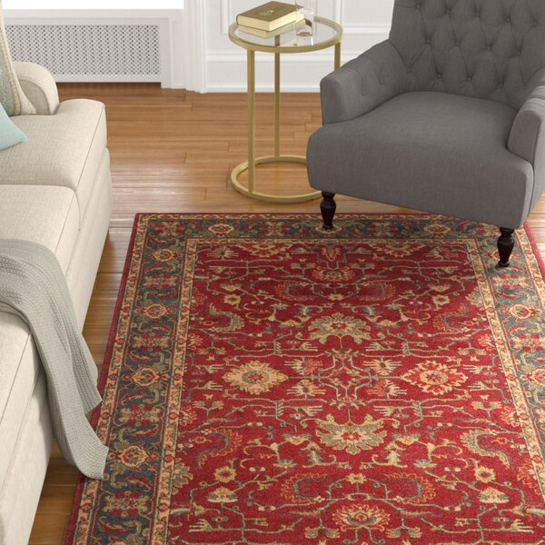 Coleraine Red Area Rug by Charlton Home