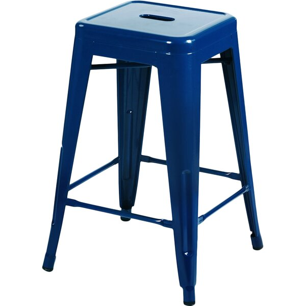 Delaware Tolix 24 Bar Stool (Set of 2) by Beachcrest Home