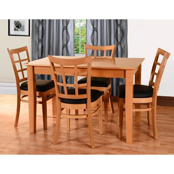 Laszakovits 5 Piece Solid Wood Dining Set by August Grove