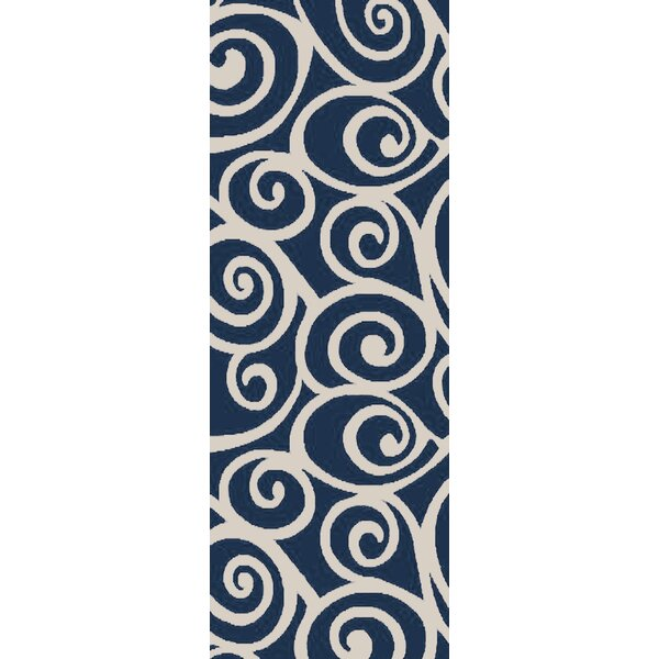 Hurley Navy Area Rug by Alcott Hill