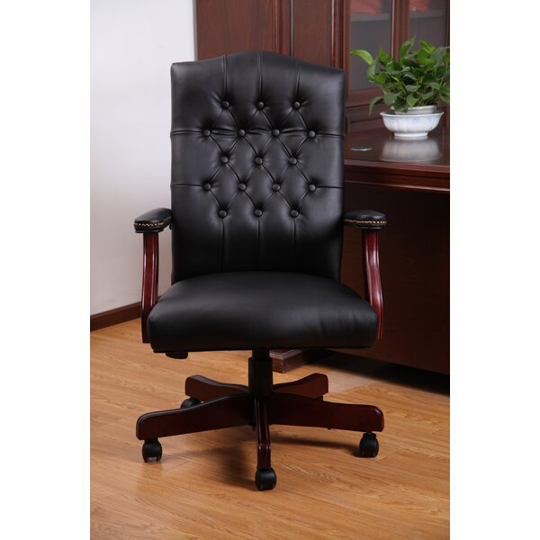 Traditional Tufted Style High-Back Executive Chair by Boss Office Products