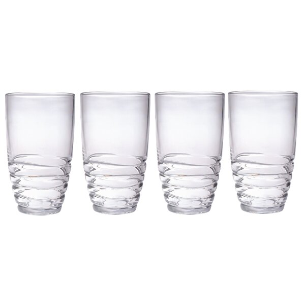 Mesa 20 oz. Plastic Every Day Glass (Set of 4) by Chenco Inc.