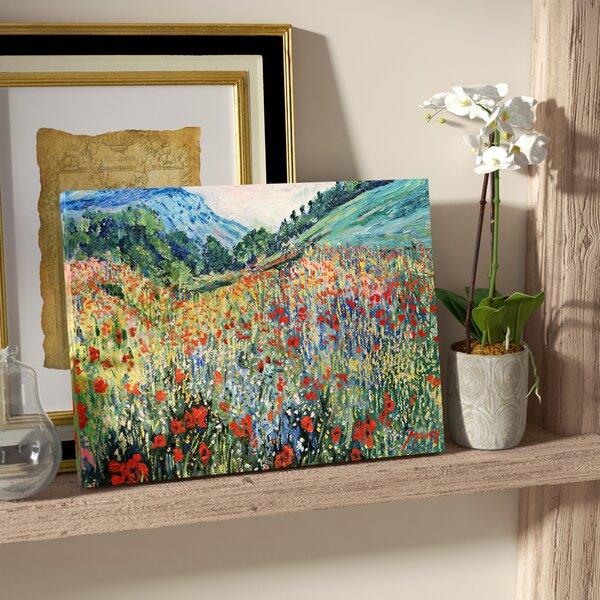 Field of flowers painting wayfair