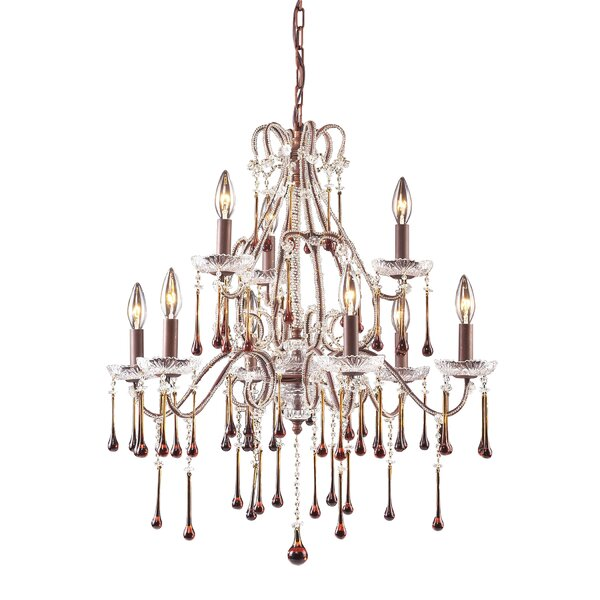 Bensley 9 - Light Candle Style Tiered Chandelier by Elk Lighting Elk Lighting