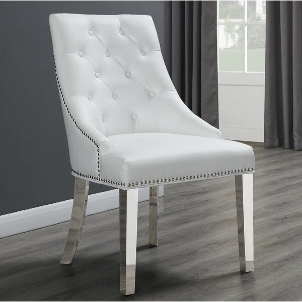 Maney Tufted Upholstered Side Chair by House of Hampton House of Hampton