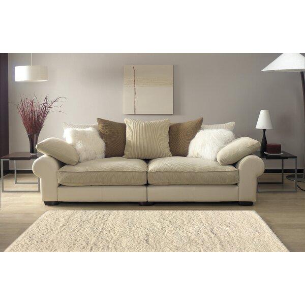 Armina Shag Ivory Area Rug by Ebern Designs