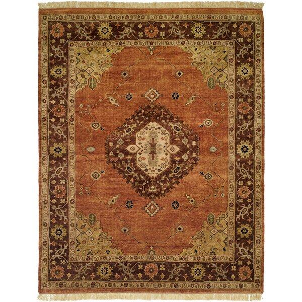 Oriental Hand-Knotted Wool Brown/Orange Area Rug