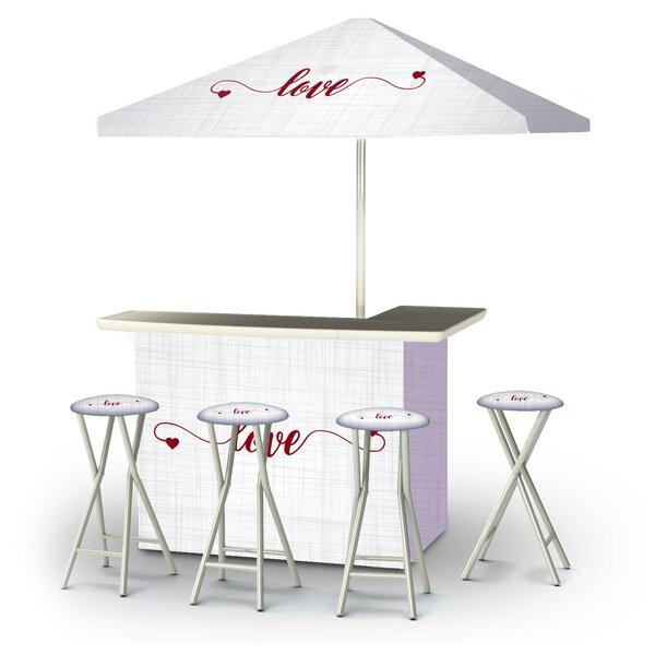 Yanga Valentines Simple Love 6-Piece Bar Set by East Urban Home