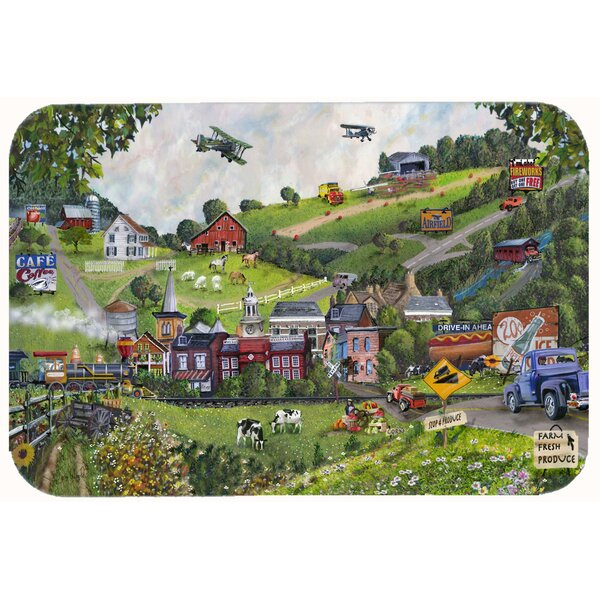 Small Town USA Kitchen/Bath Mat by East Urban Home