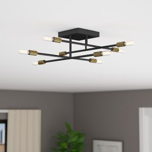 Great deal Whaleback 8-Light Semi Flush Mount By Trent Austin Design