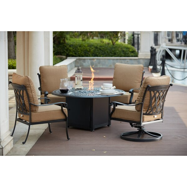 Melchior 5 Piece Conversation Set with Cushions by Astoria Grand