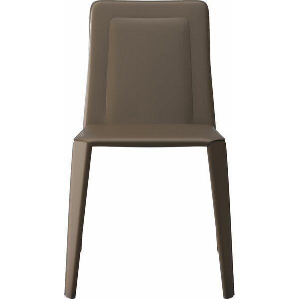 Salena Genuine Leather Upholstered Dining Chair (Set of 2) by Orren Ellis