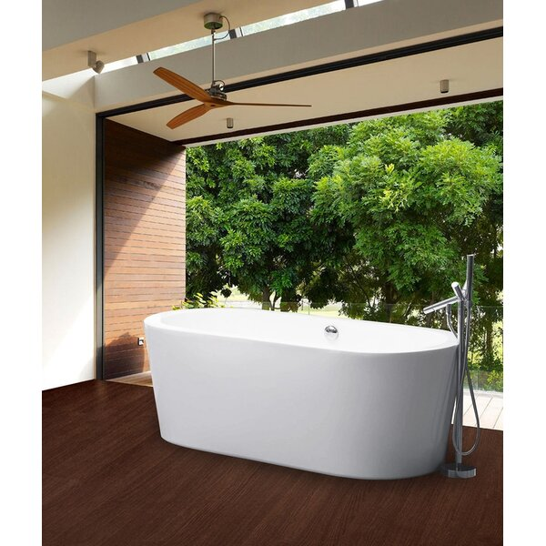 PureScape 59 x 29.5 Freestanding Soaking Bathtub by Aquatica