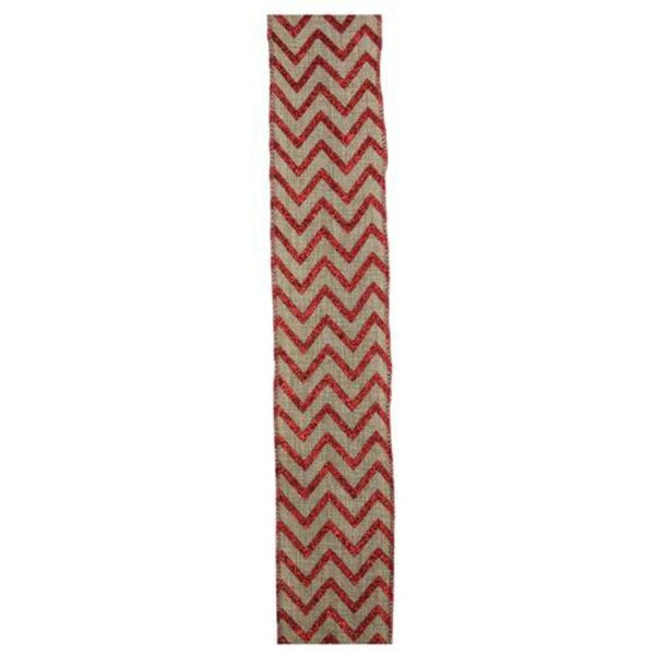 Chevron Wired Christmas Craft Ribbon by The Holiday Aisle