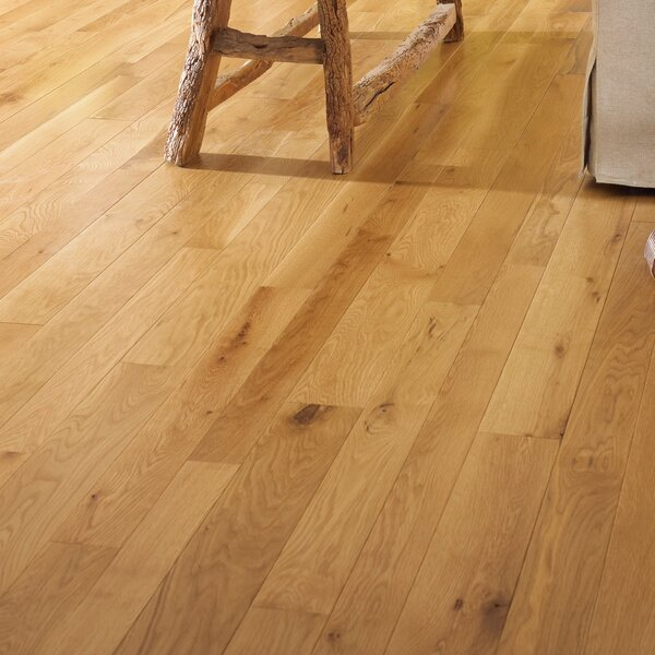 Character 3-1/4 Engineered White Oak Hardwood Flooring in Natural by Somerset Floors