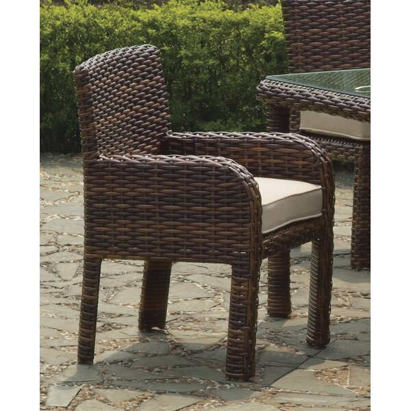 Sherlyn Patio Dining Chair with Cushion by Bay Isle Home
