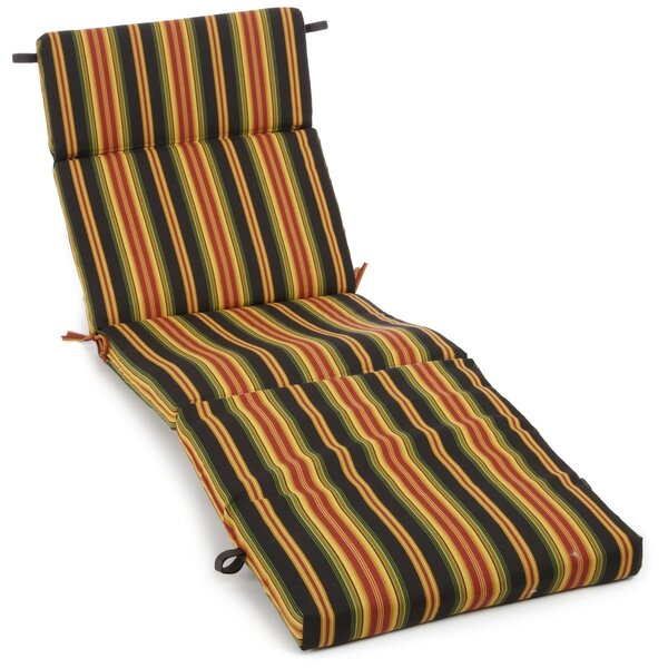 Indoor/Outdoor Chaise Lounge Cushion by Blazing Needles