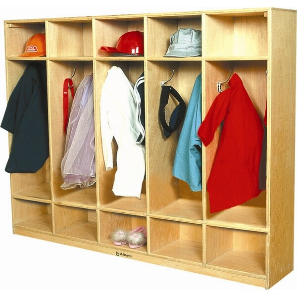 3 Tier 5 Wide Coat Locker by A+ Child Supply