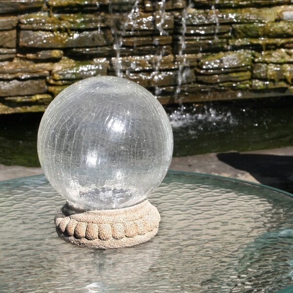 Chameleon Crackled Solar Gazing Globe by Smart Solar
