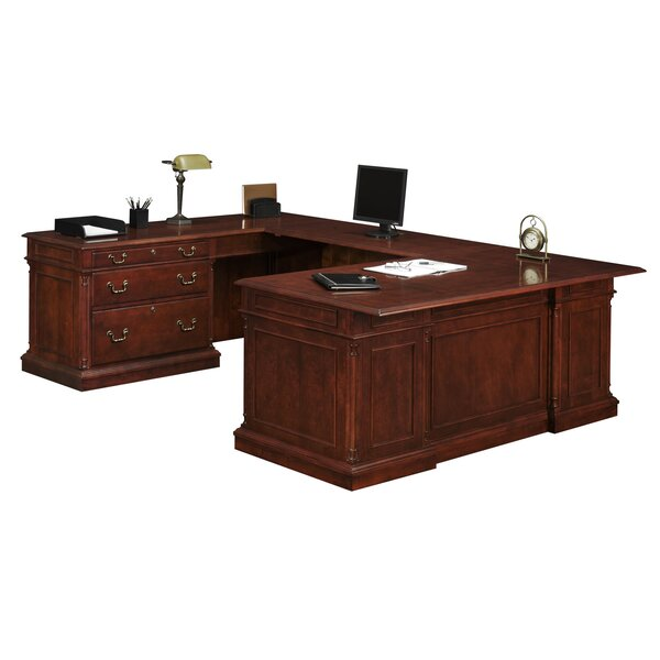 Prestbury HPL Top U-Shape Executive Desk by Darby Home Co