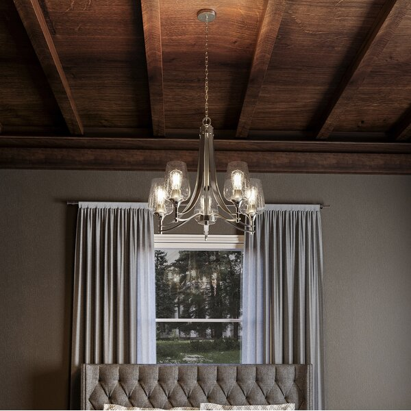 Haskin 5 - Light Shaded Classic / Traditional Chandelier By Highland Dunes