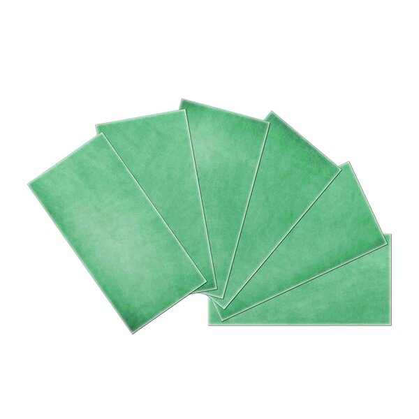 Crystal Skin 3 x 6 Glass Subway Tile in Green by SkinnyTile