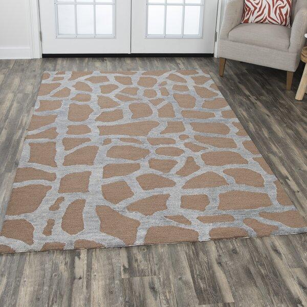 Comstock Hand-Tufted Wool Gray/Tan Area Rug by Brayden Studio