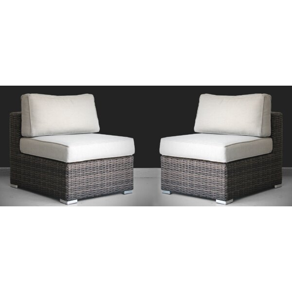 Nolen 2 Piece Rattan Seating Group with Cushions by Latitude Run