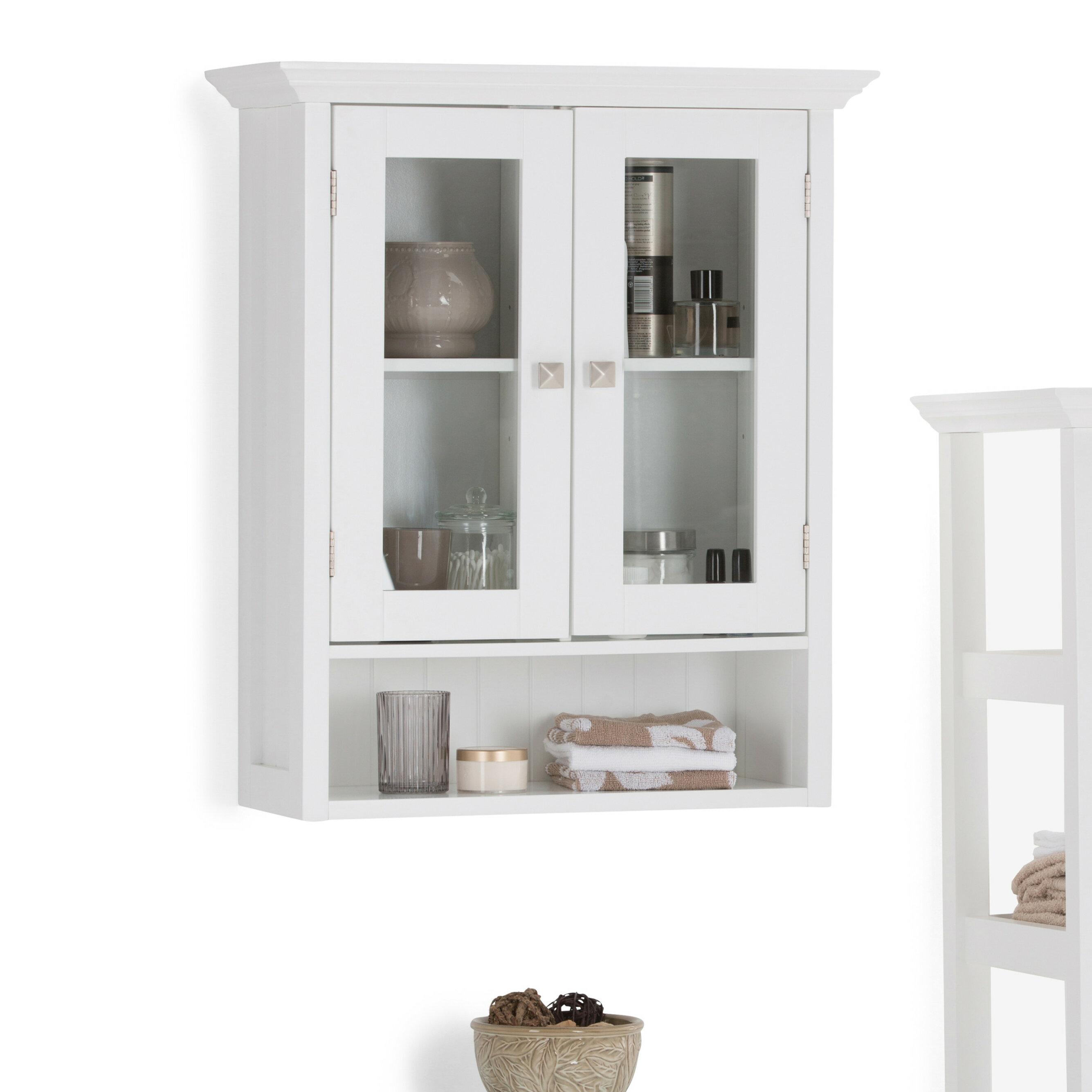 simpli home acadian double door 23 63 w x 27 96 h wall mounted