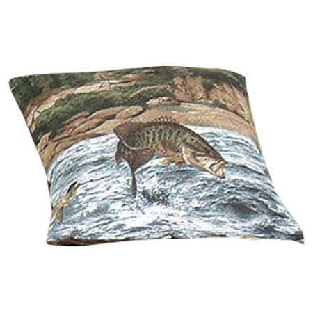 River Fishing Cotton Throw Pillow by Wildon Home ®