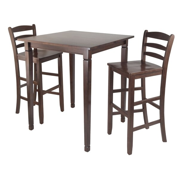 Hemphill 3 Piece Counter Height Pub Table Set by Red Barrel Studio Red Barrel Studio