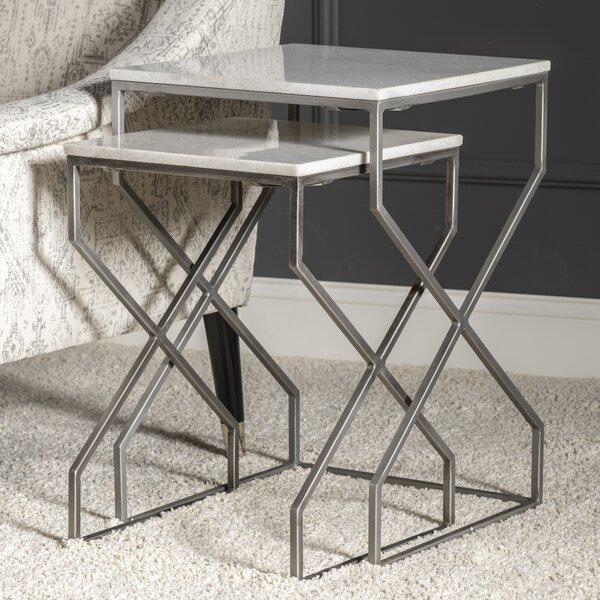 Dores 2 Piece Nesting Tables (Set Of 2) By Orren Ellis