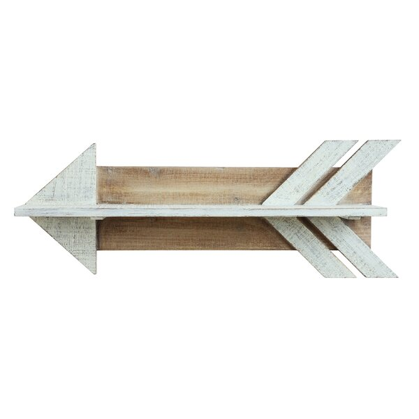 Lorusso Wood Arrow Shaped Shelf by Union Rustic
