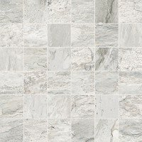 Dolomiti 2 x 2 Porcelain Mosaic Tile in White by Madrid Ceramics