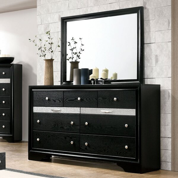 Seifert 9 Drawer Dresser with Mirror by Everly Quinn Everly Quinn