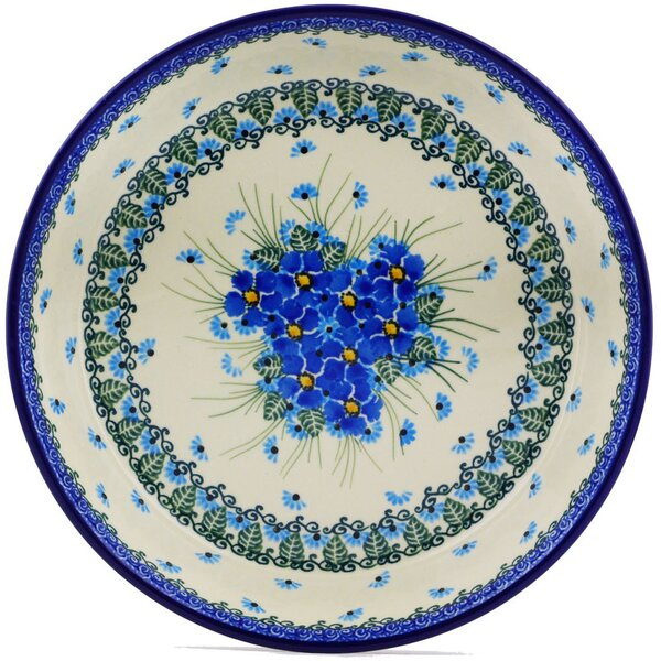 Forget Me Not Pie Dish by Polmedia