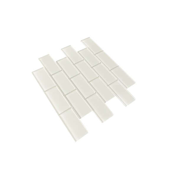 Premium Series 2 x 4 Glass Subway Tile in Glossy Icy Gray by WS Tiles