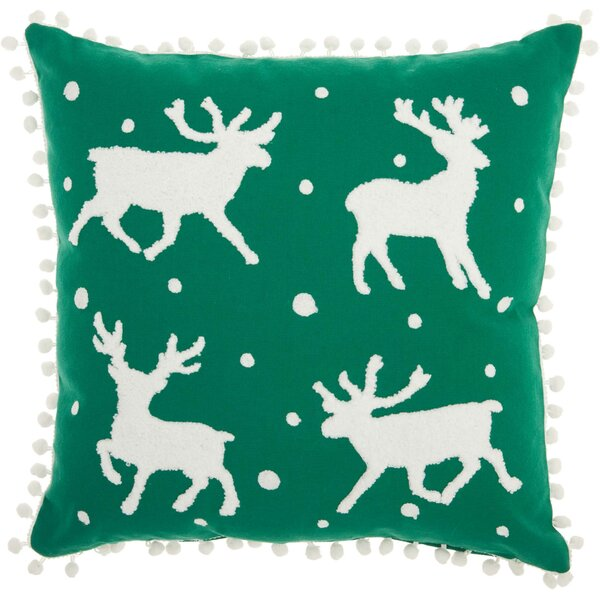 Leboeuf Reindeer Cotton Throw Pillow by The Holiday Aisle