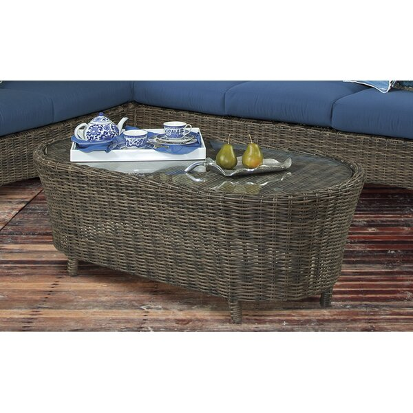 Satterwhite  Glass  Coffee Table by Bloomsbury Market